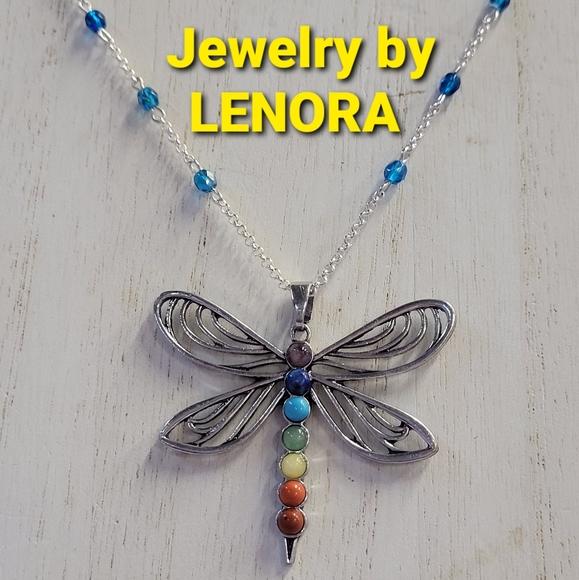 "Chakra Dragonfly 16"" Necklace"